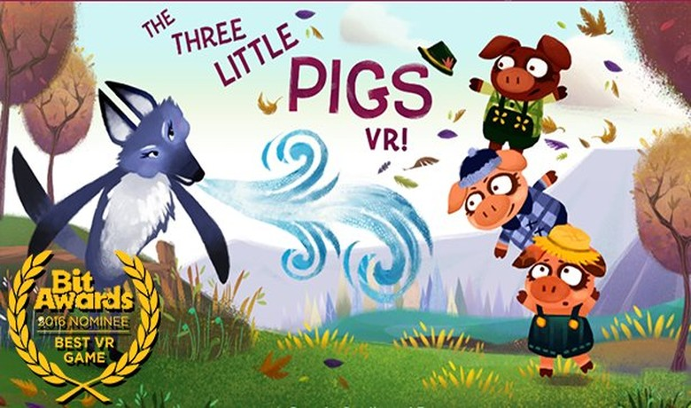 Three Little Pigs VR up for Playcrafting Award